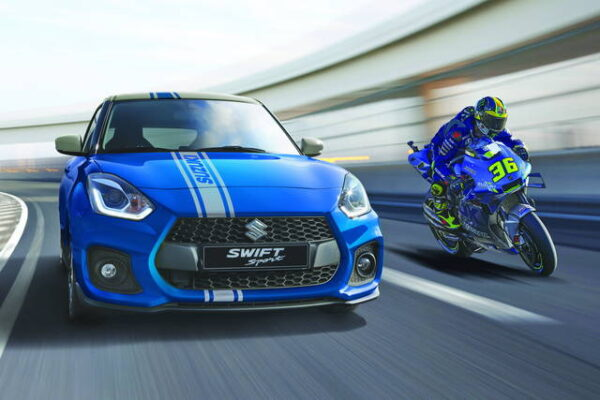 Una Suzuki Swift da MotoGP